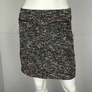 Ann Taylor Size 0 Gray Red Gray Straight Skirt